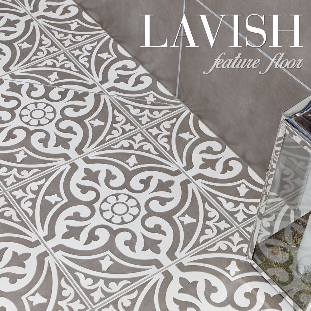 Create a lavish feature floor with the devonstone tile the create a lavish feature floor with the devonstone tile the decorative motif goes perfectly with dailygadgetfo Images