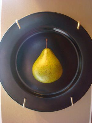 Halved Fake Fruit on Plate