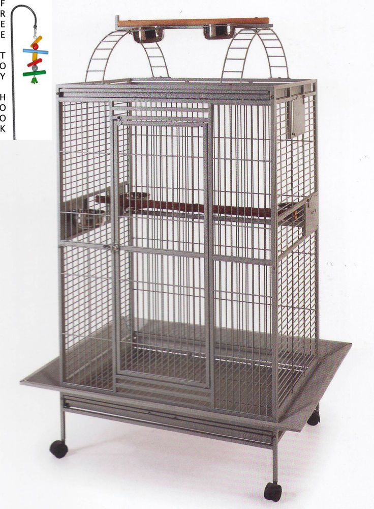 Bird+Parrot+PlayTop+Cage+Cockatiel+Macaw+Conure+Aviary+Pet