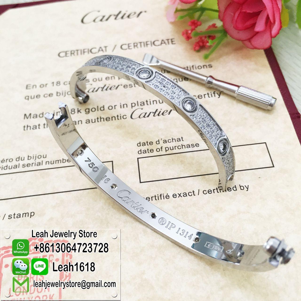 Cartier Love Bracelet White Gold Diamond Paved 10 Big DiamondsBuy 1 Get