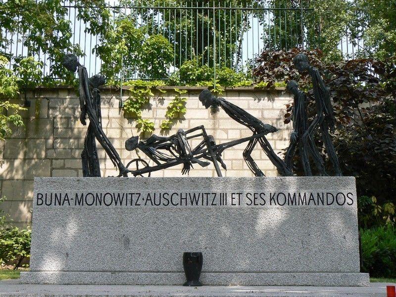 Monument à la mémoire des déportés à Buna-Monowitz, cimetière du Père Lachaise