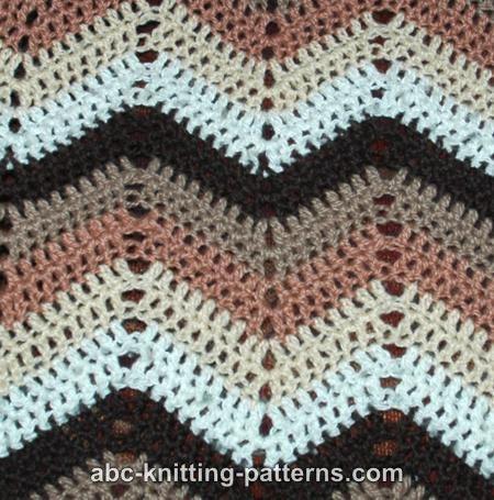 Abc Knitting Patterns Ripple Afghan Crochet Blankets