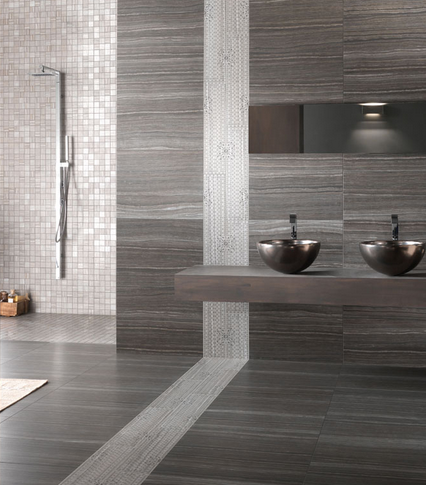 Love these tiles eramosa carbon wall floor tile a digitally printed stone effect porcelain gloss floor tile suitable for bathrooms and heavy traffic