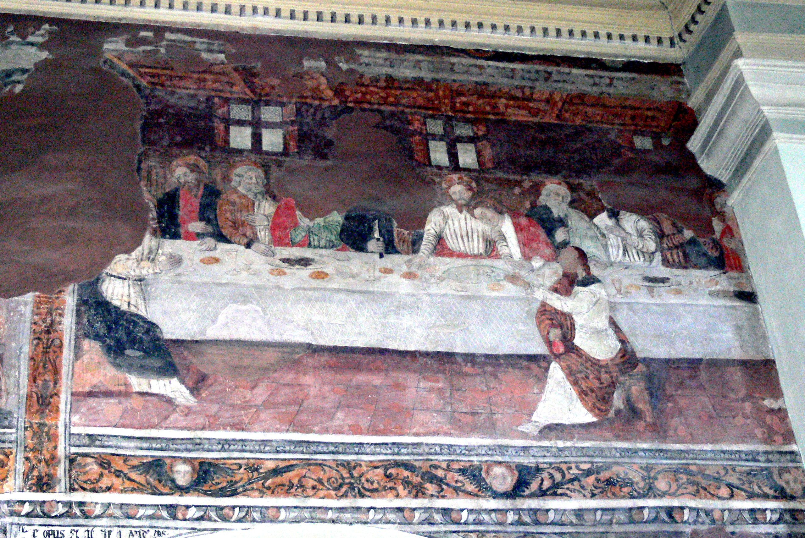 Morgex (Valle d'Aosta) - Chiesa di Santa Maria Assunta - Ultima cena - affresco