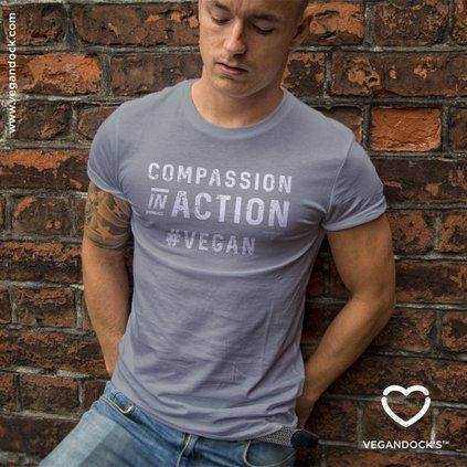 Compassion in Action #VEGAN T-shirt - Available now on Vegandock.com
