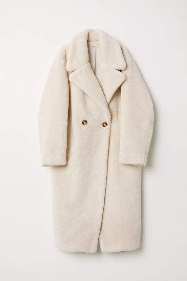 23ae1f058629 H M Faux Fur Coat - White