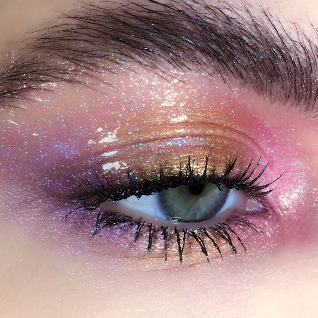 Image May Contain One Or More People And Closeup Eye Makeup