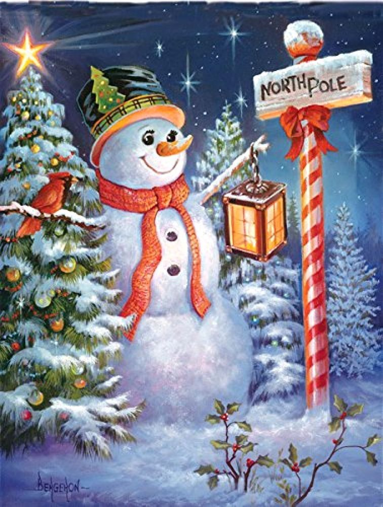 North Pole or Bust a 500-Piece Jigsaw Puzzle by Sunsout Inc North pole