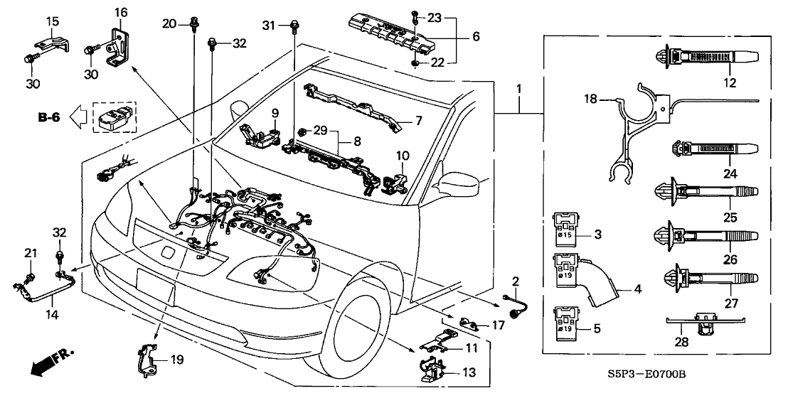2001 Honda Civic Parts Diagram En 2020