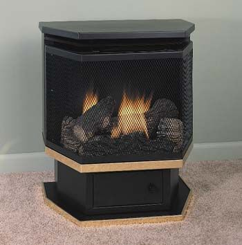 Ventless Free Standing Gas Heater With Blower Comfort Glow Gas