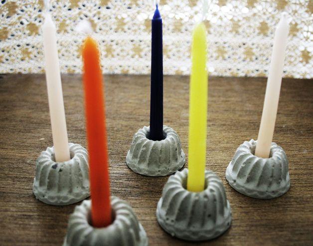 schöner Kerzenständer aus Stuck als Geschenk oder Deko Stuck