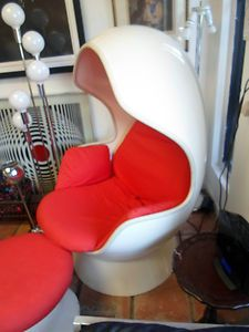 1961 Hi Fi Stereo Egg Chair Hollen Mfg Prototype W Ottoman Jacobsen  Inspired | EBay Ball