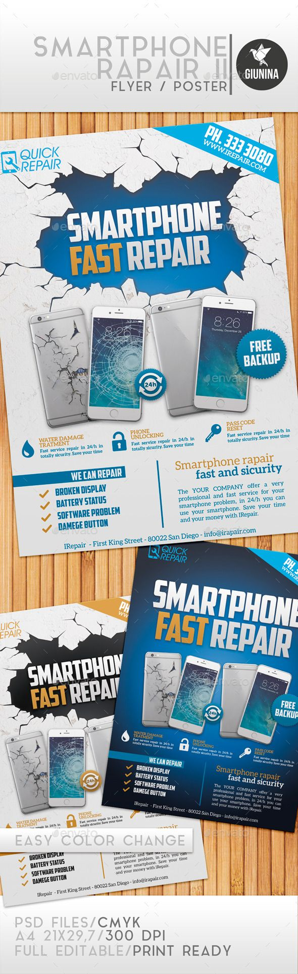 Smart Phone Repair Service flyers is the ideal design for – Computer Repair Flyer Template
