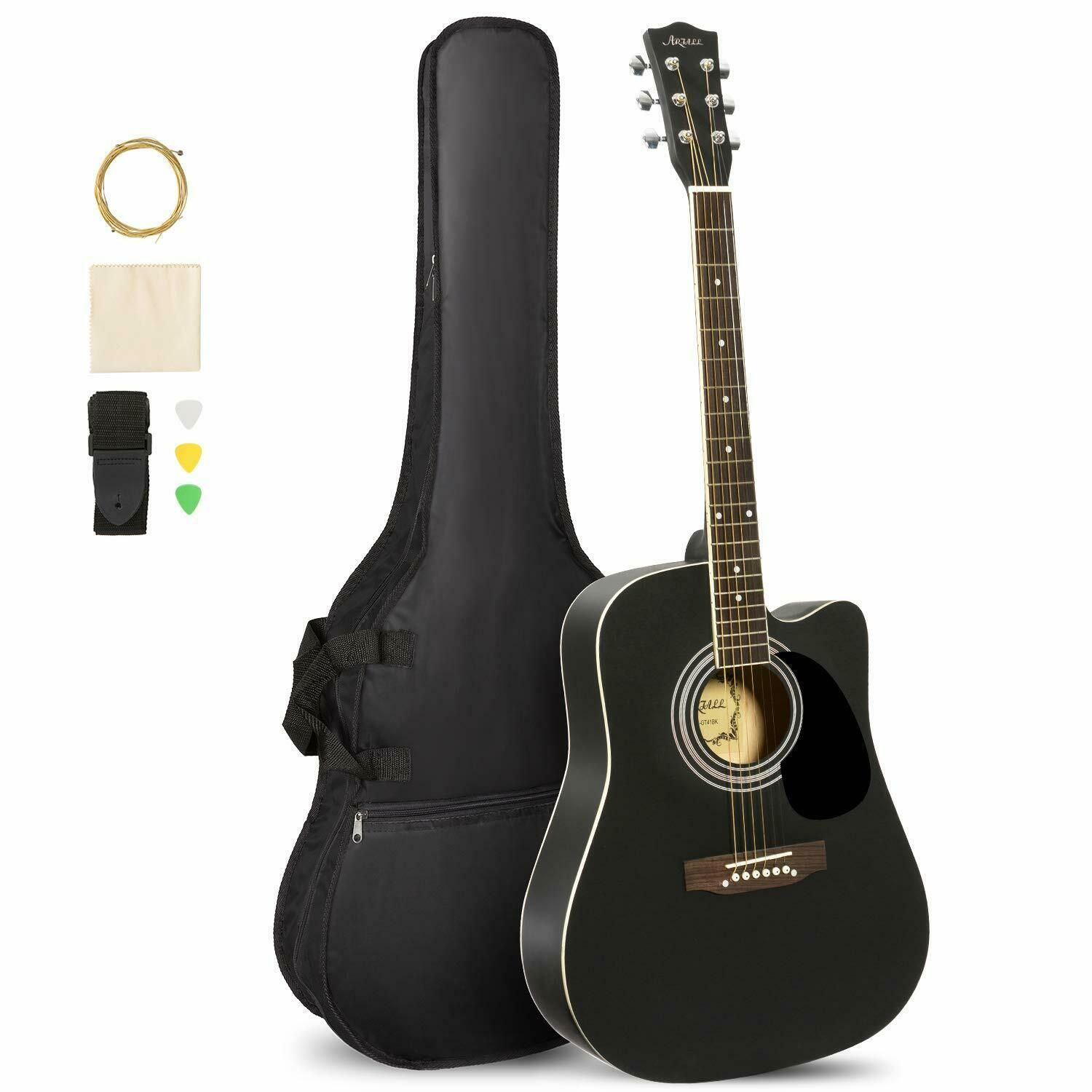 41 inch handcrafted acoustic cutaway guitar beginner kit
