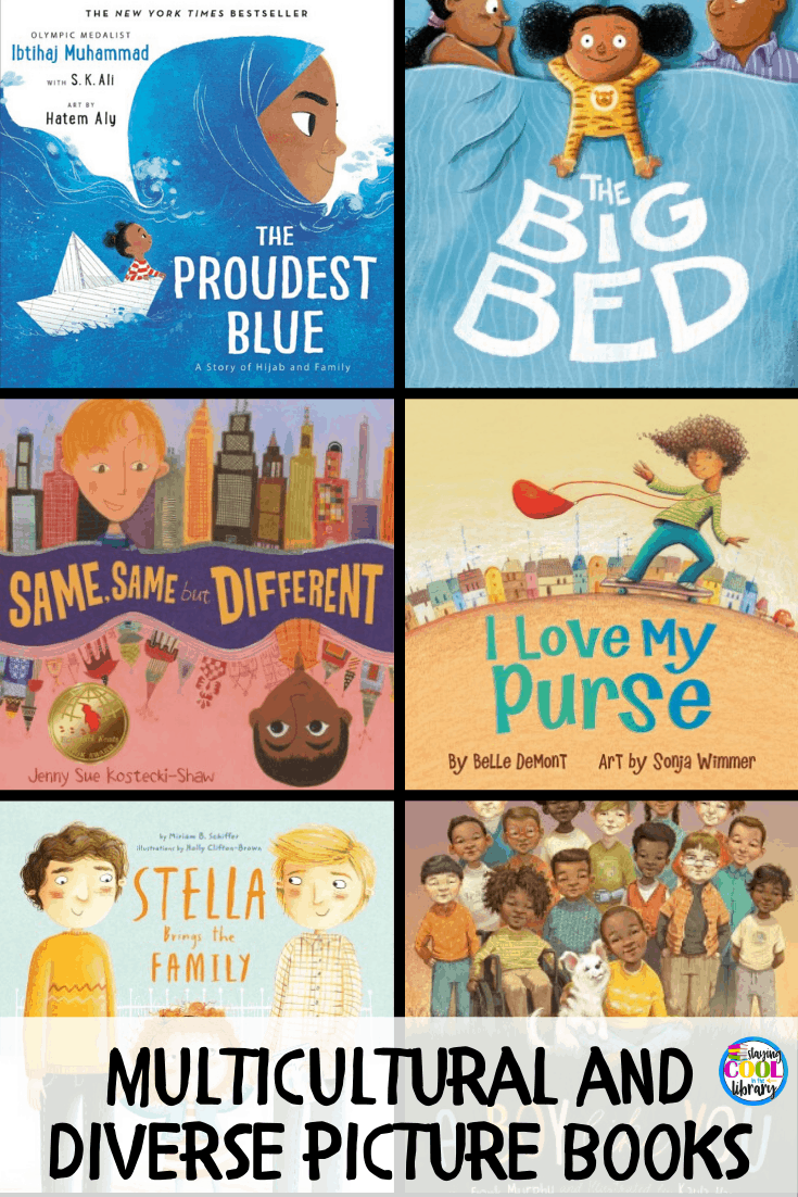 Book list of children's books with multicultural and diverse characters. Children need to not only learn about new cultures, places, and traditions but they also need to be able to