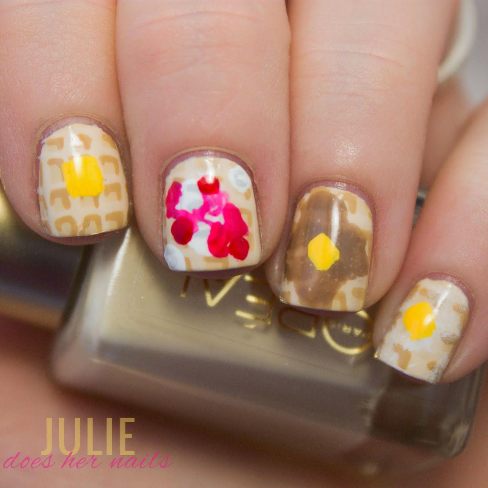 Parks & Rec Waffle Nails   Cute Nails   Pinterest