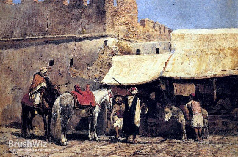 Tangiers   by Edwin Lord Weeks Painting Reproduction