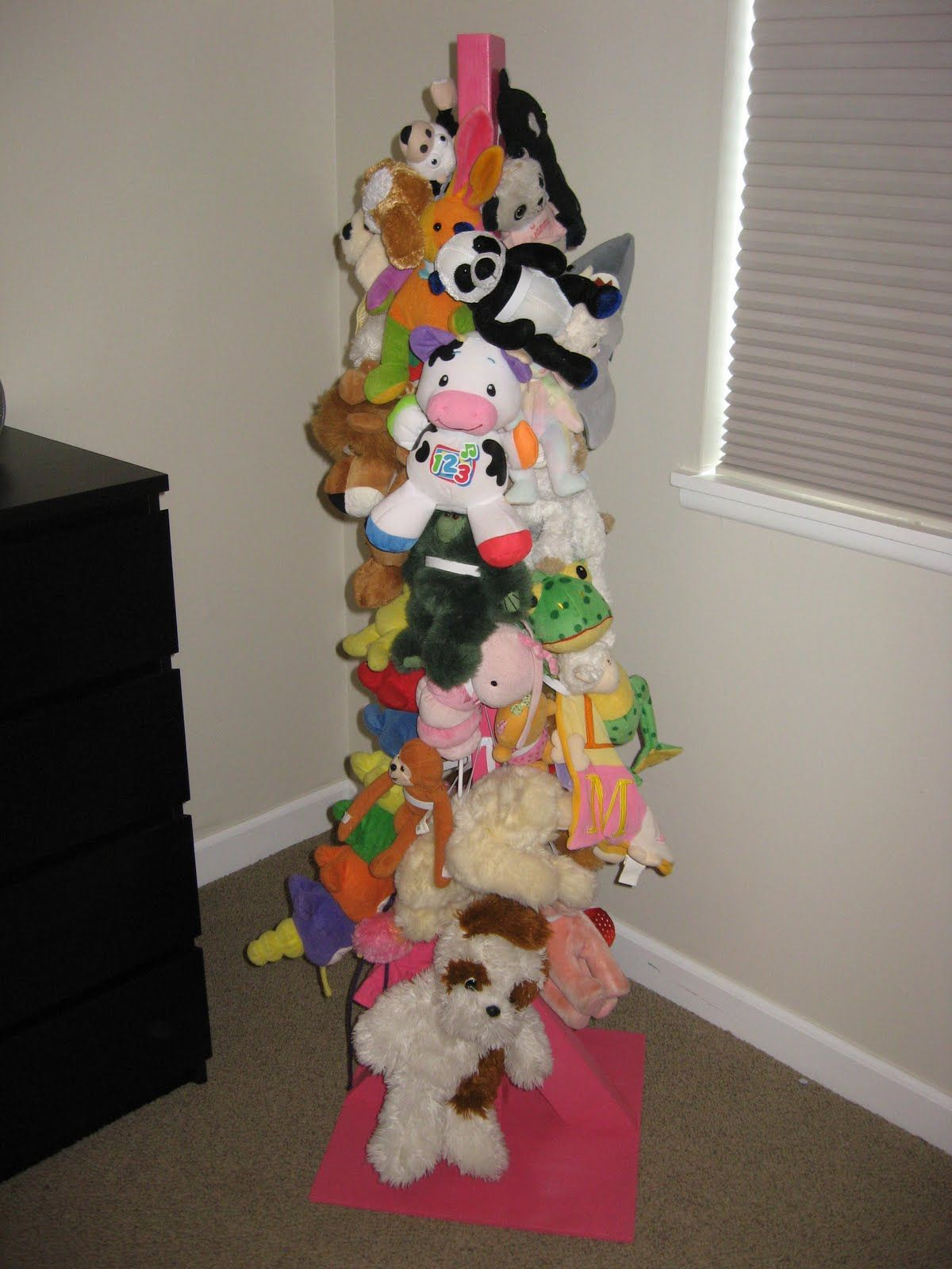 Stuffed Animal Tree To Help Keep All Those Critters Off The Floor