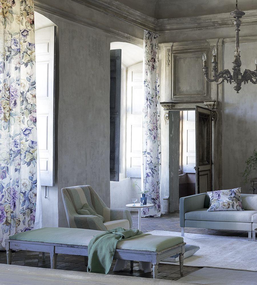 Vintage house interior design interior design classic vintage  viola fabric by designers guild