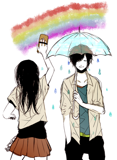Paint a rainbow.