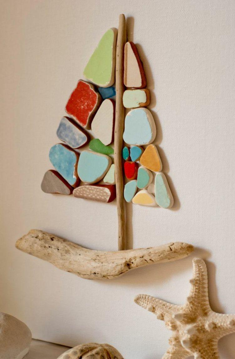 Bilder mit Steinen basteln – Eine hübsche Wanddeko aus Naturmaterialien #bastelnmitsteinen