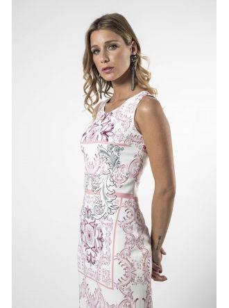 Vestido mayólica rosa Varela www.felipevarela.com