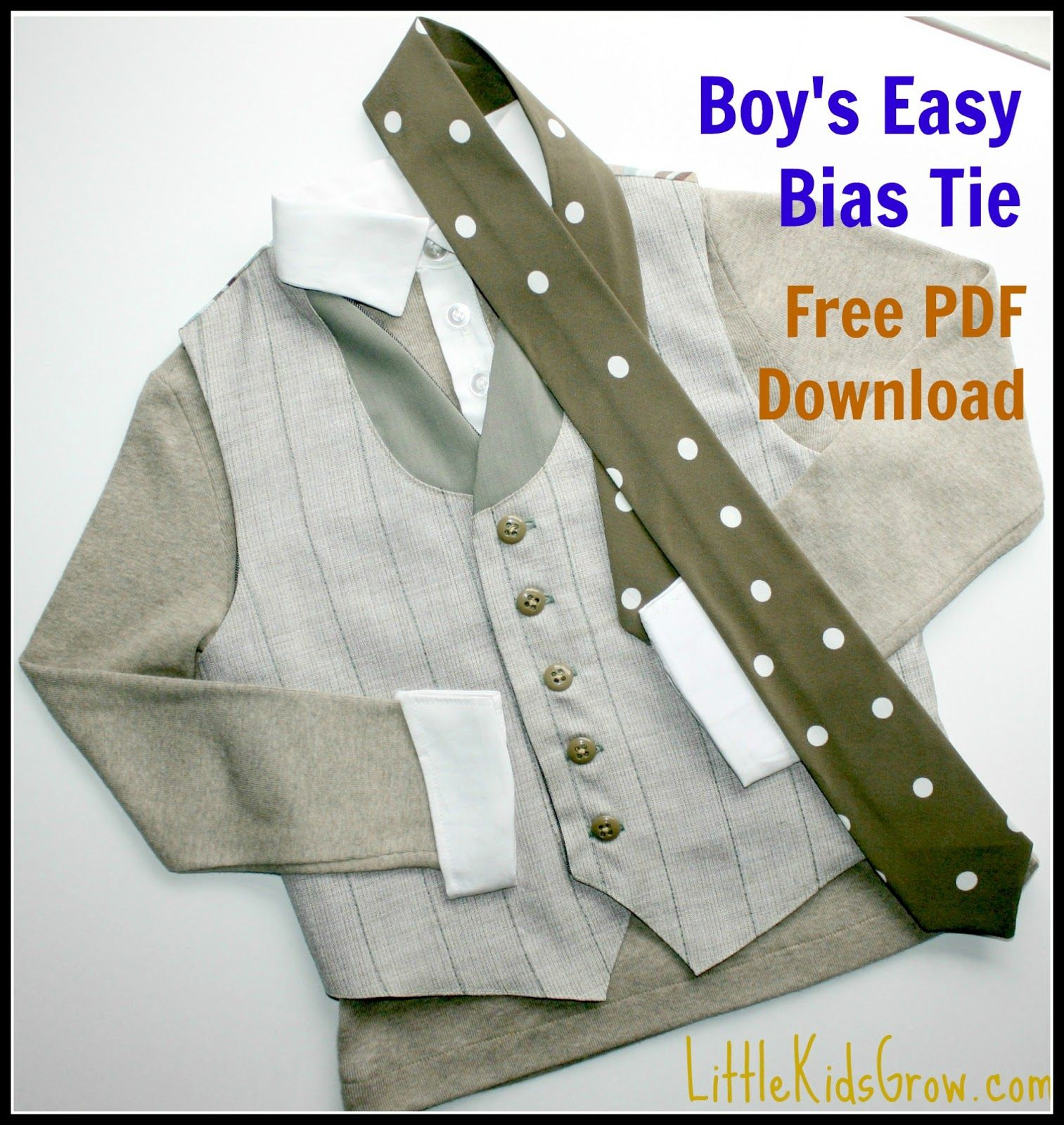 Winner\'s Tutorial: Shannon\'s Easy Bias Tie | Sewing for the Kids ...