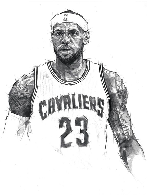 How To Draw Lebron James : lebron, james, Double, Scribble, Lebron, James, Wallpapers,, Lebron,