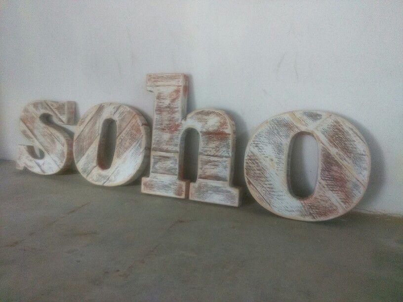 Letras corporeas en madera rotulo vintage franquicias - Fabricacion letras corporeas ...