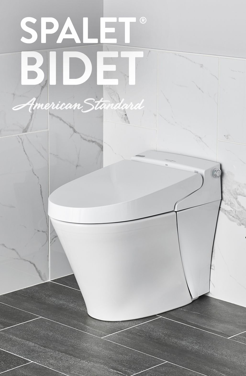 American Standard Spalet Bidets include a heated seat
