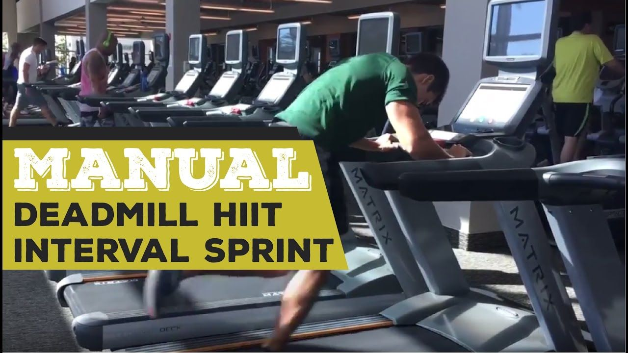 Manual deadmill hiit interval sprint hiit interval hiit