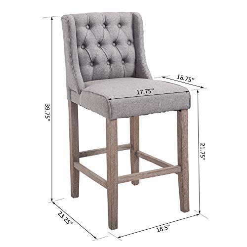 Fabulous Counter High Dining Chair Bar Stool Elegant Button Tufted Inzonedesignstudio Interior Chair Design Inzonedesignstudiocom