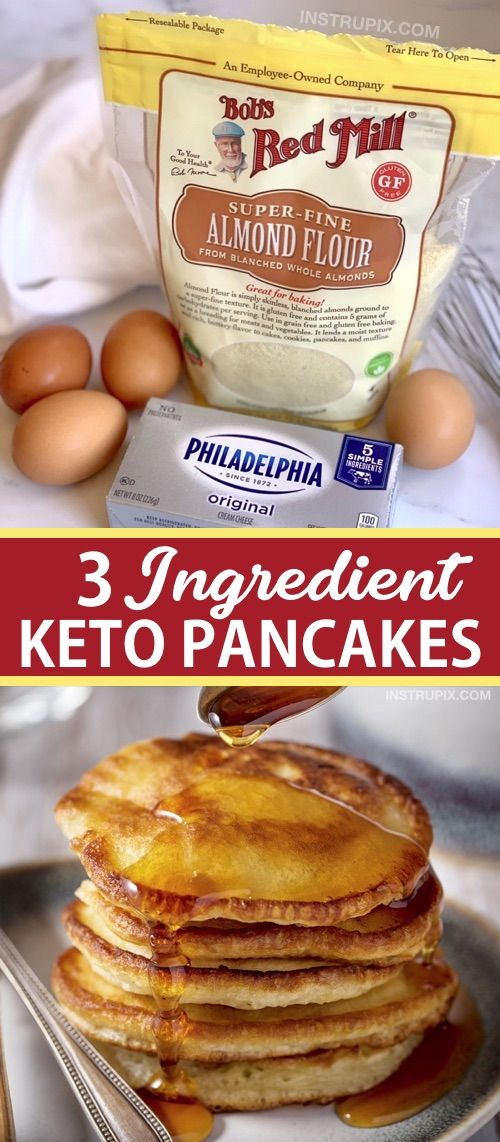 3 Ingredient Keto Pancakes (Easy Low Carb Breakfast Idea!)