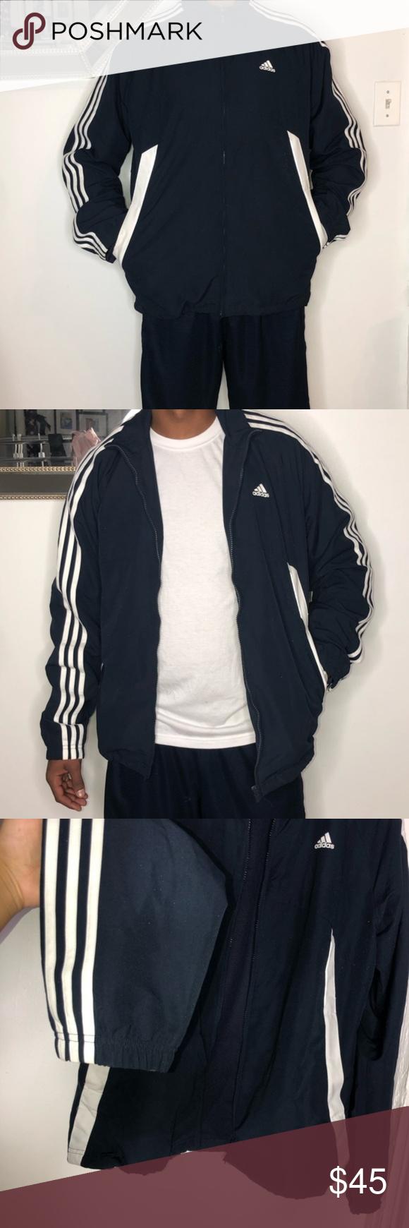 Adidas Men's Three Stripes Reflectors Jacket Vintage Men's