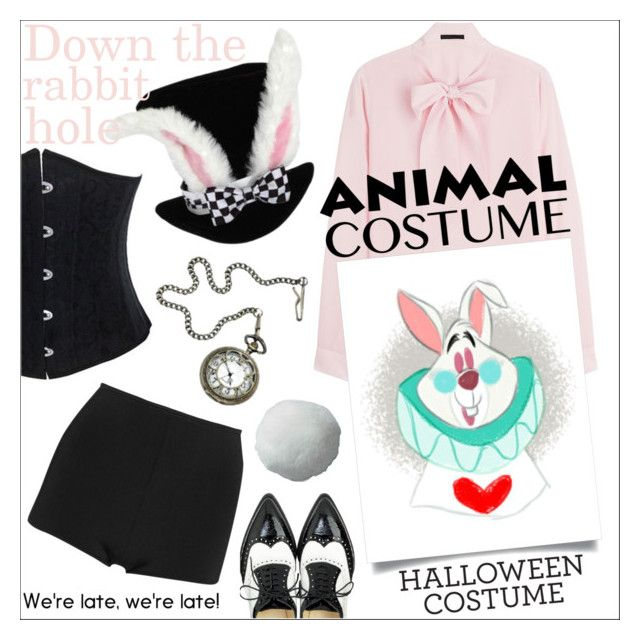 """60-Second Style: Animal Costume"" by danielle-487 ❤ liked on Polyvore featuring Karl Lagerfeld, Balmain, Halloween, 60secondstyle and animalcostume"