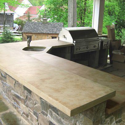 Concrete Countertops In Outdoor Kitchen Outdoor Concrete