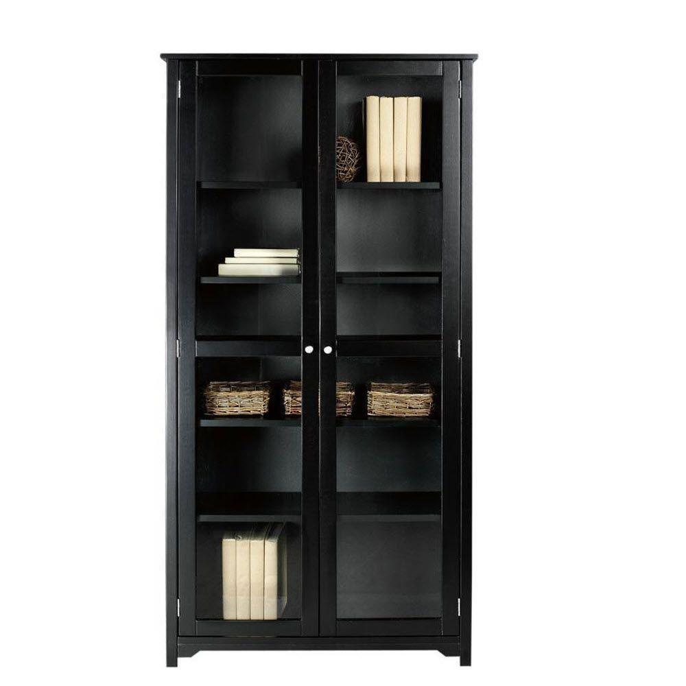 Home Decorators Collection Oxford Black Gl Door Bookcase