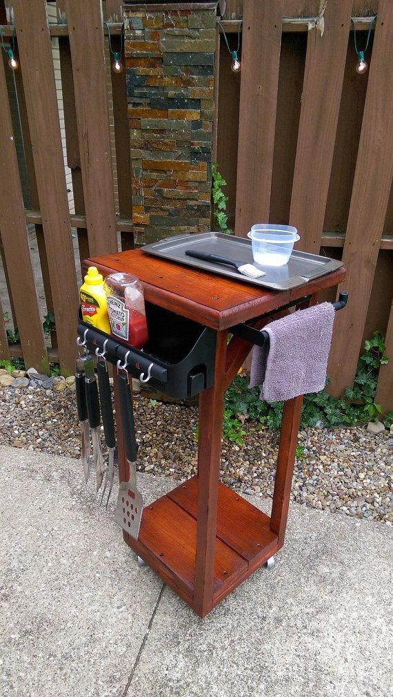 grill caddy by chetrickdesigns on etsy yard pinterest grilling