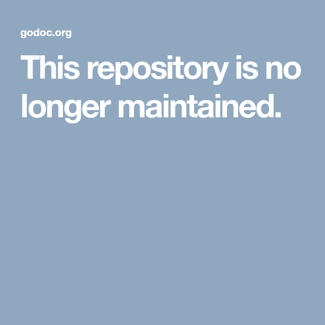 This Repository Is No Longer Maintained Med Bilder