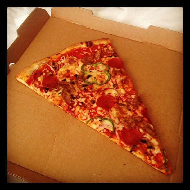 What A Lonely Slice Vegetable Pizza Vegetables Food