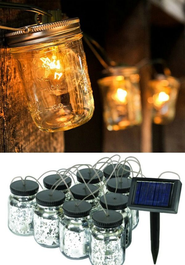 Solar Mason Jar String Lights Designed To Be Year Around Lighting For Decoration Of Any Patio Deck Pathway Tree High Tech Always On The Edge Solar