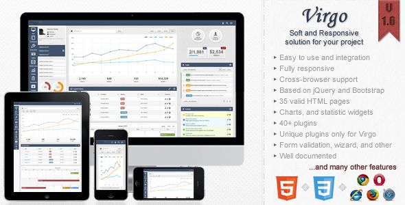 Virgo Responsive Bootstrap 3 Admin Template Templates Template Site Invoice Template
