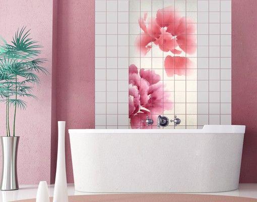Fliesenbild Künstlerische Flora II #Fliesenbild #Traumurlaub #Bad - wandgestaltung im badezimmer