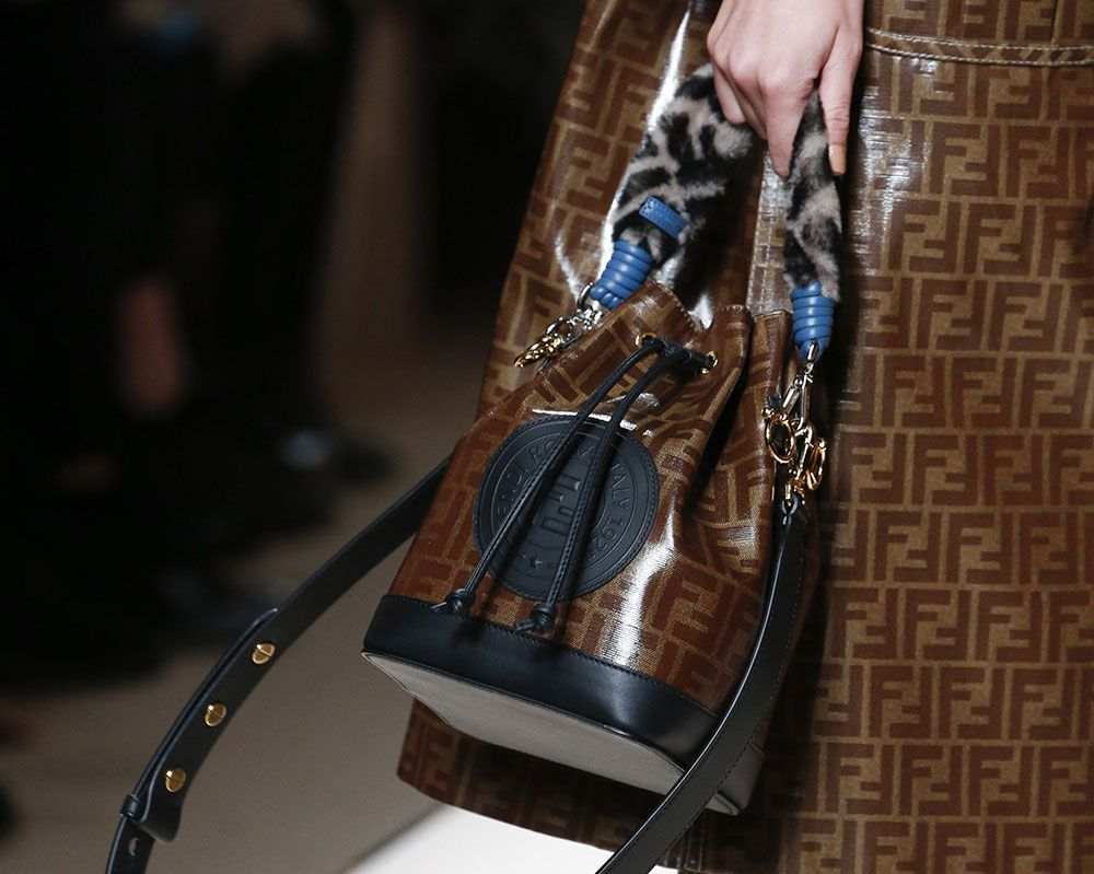 f0d40e62d558 It Was Logo-A-Gogo and Peekaboo Bags Galore on Fendi s Fall 2018 Runway