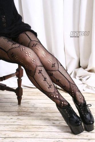 Braided Lace Hollow Vtg Lolita Style Art Pattern Tight Pantyhose Leggings New | eBay