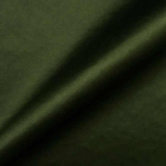 Bottle Green Cotton Backed Duchess Satin