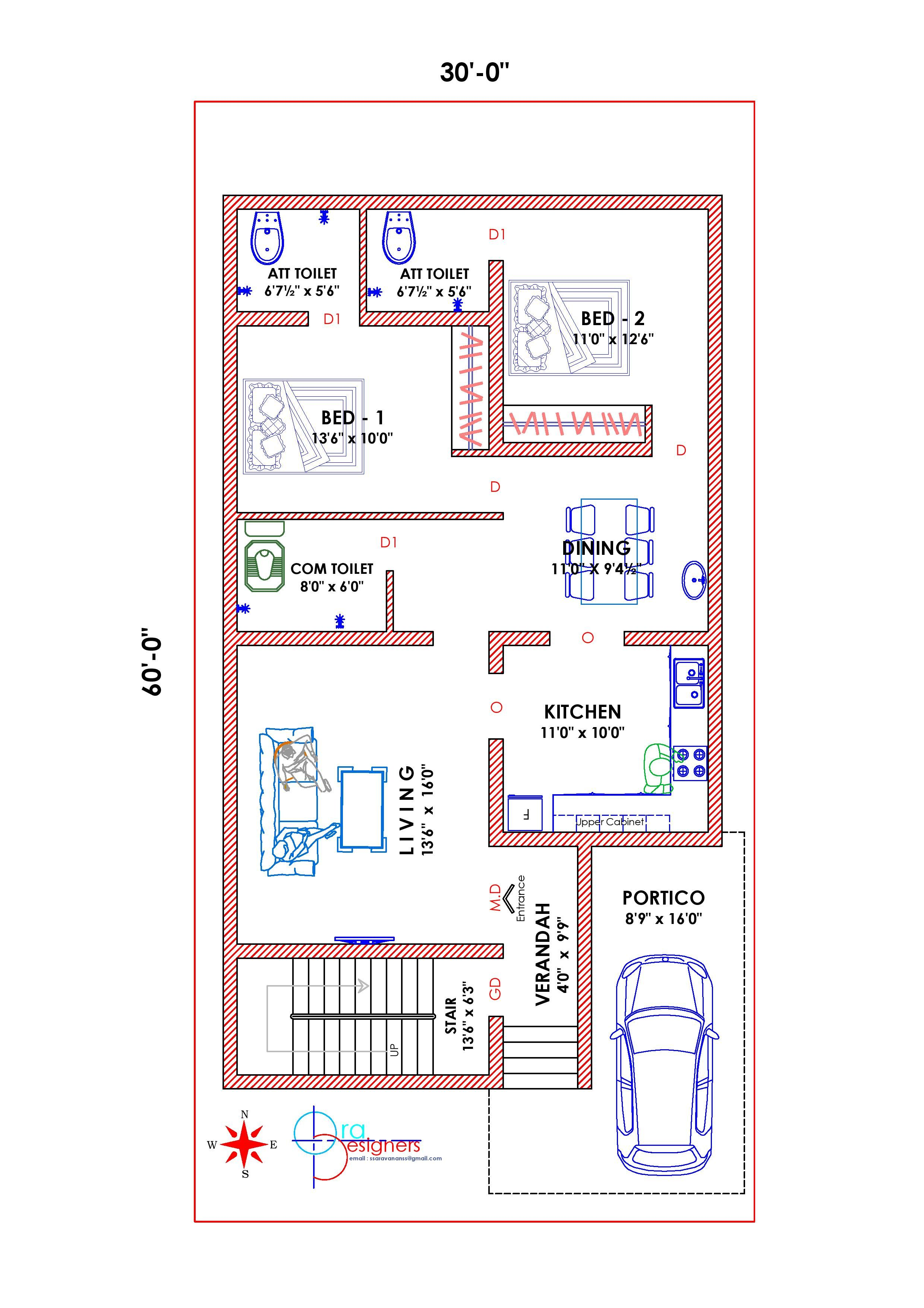 South Facing Vastu Plan South Facing House Budget House Plans 2bhk House Plan