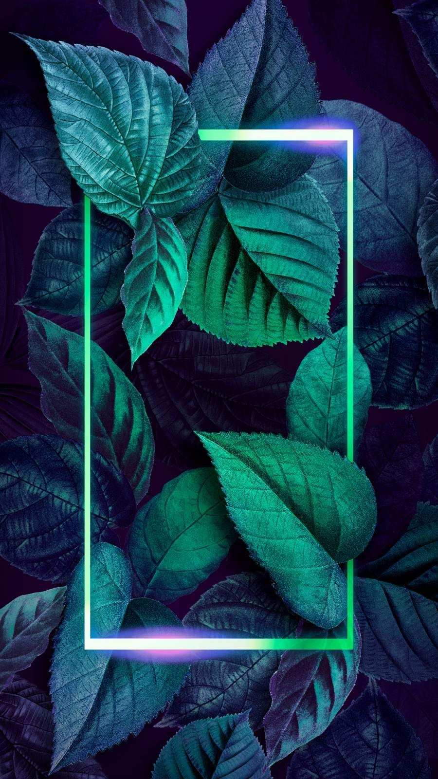 Neon Foliage Nature Art iPhone Wallpaper - iPhone Wallpapers