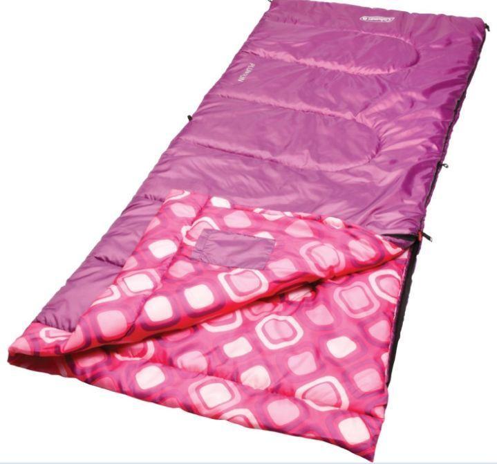 Sleeping Bag Youth Girls Comfort Rectangular Thermotech Warm Weather ...