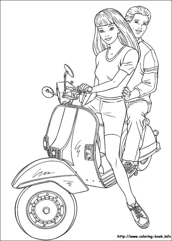 Barbie coloring picture | Barbie Coloring Pages | Pinterest